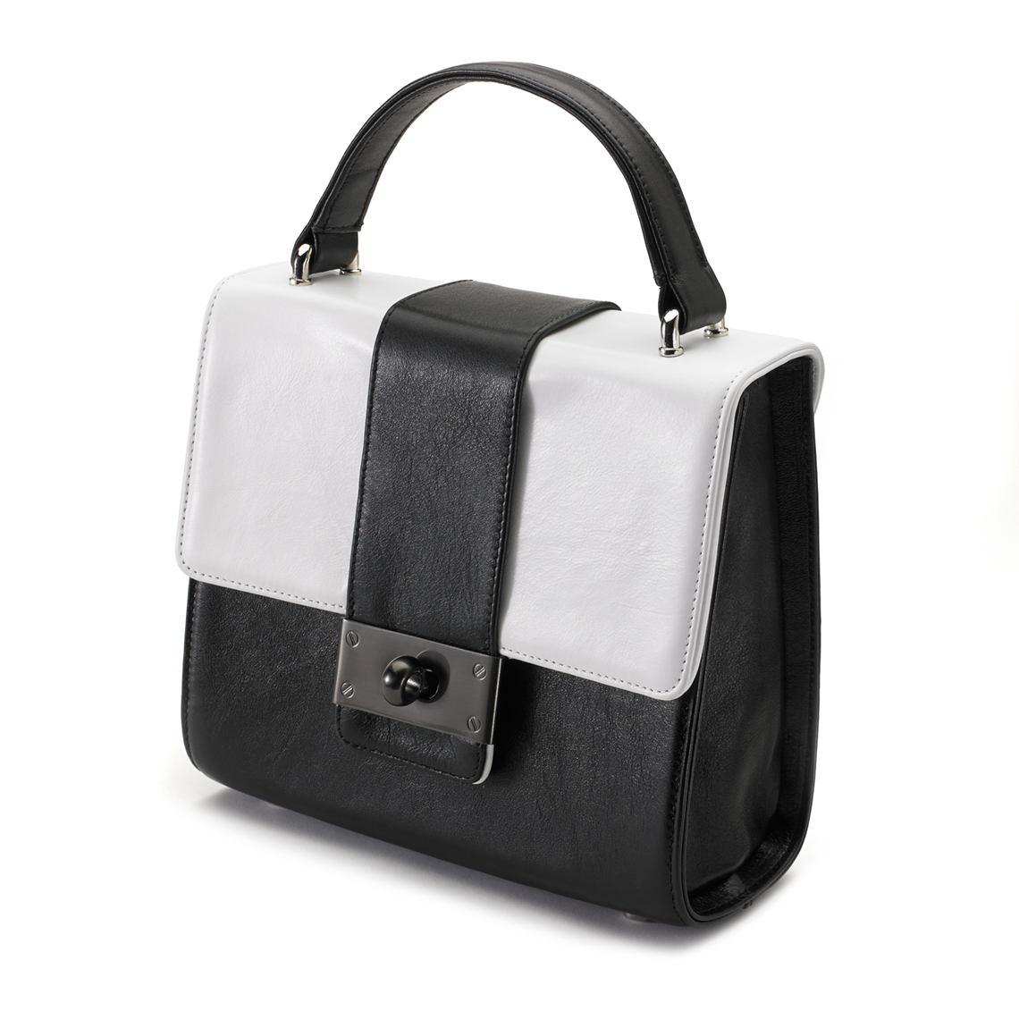 Lyali-Black-and-White-Leather-side